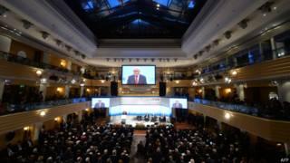Diplomatas e autoridades mundiais se reúnem em Munique para discutir segurança (foto: AFP)