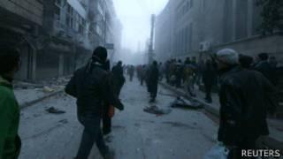 Calles de Alepo, Siria