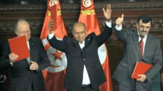 الاحتفال باقرار اول دستور لتونس بعد الثورة