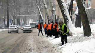 Снег в Душанбе