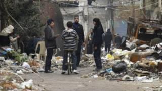 Wadanda rikicin Syria ya rutsa da su.