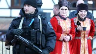 शीतकालीन ओलंपिक की मशाल यात्रा के दौरान सुरक्षा व्यवस्था