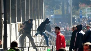 Протестующие в Боснии и Герцеговине