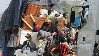Musulmi na tserewa a birnin Bangui