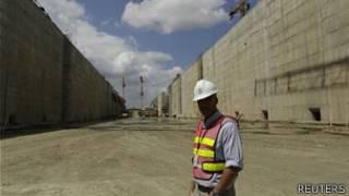 Obras de ampliacióin del Canal de Panamá