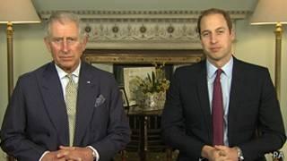 Principes Carlos y William