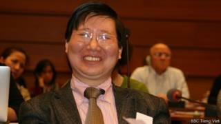 Ông Đặng Xương Hùng tại hội thảo ở Geneva hôm 4/2