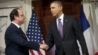 Obama, Hollande