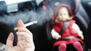 有兒童乘坐時在車內吸煙