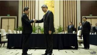 Abategetsi bo mu Bushinwa na Taiwan bahura