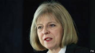 英国内政大臣特里莎·梅