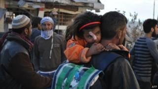 Беженцы из Хомса