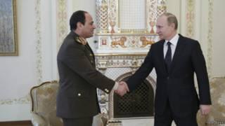 Владимир Путин и Абдель Фаттах Сиси