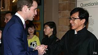 威廉王子与成龙伦敦会面