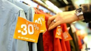 Распродажи в парижских магазинах