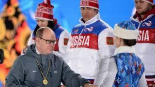 Вручение медалей в Сочи