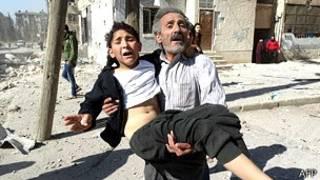 敘利亞受傷民眾