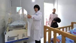 Incubadora de bebês na China | Crédito: Reuters
