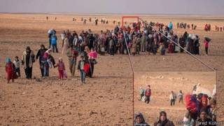 Refugiados sirios llegando a Jordania