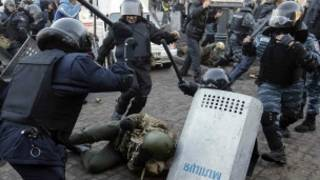 युक्रेनमा  हिंसात्मक  विरोध प्रदर्शन