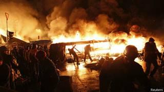Enfrantamientos en Kiev, Ucrania