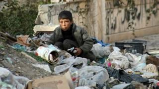 Niño en Deir Ezzor, Siria