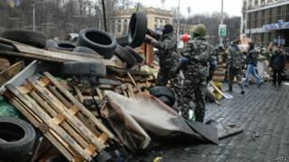 Баррикады на киевском Майдане 20 февраля 2014 г.