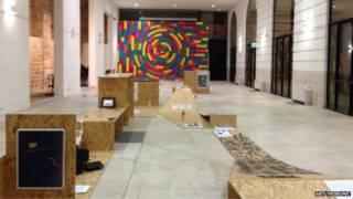 意大利的一個現代藝術作品展