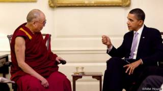 奥巴马2010年2月18日在白宫会晤达赖喇嘛