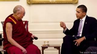 أوباما والدالاي لاما في لقاء عام 2011