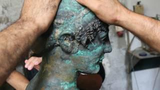 यूनानी देवता अपोलो, कांस्य प्रतिमा, गाज़ा