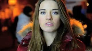यूक्रेन की एक प्रदर्शनकारी का वीडियो