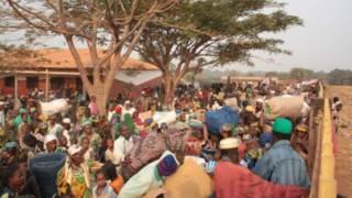 مجموعة من المهجرين من مسلمي أفريقيا الوسطى