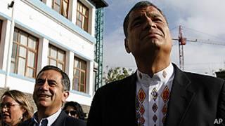 Rafael Correa y Augusto Barrera