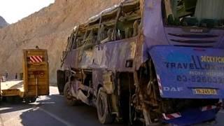 Автобус после катастрофы
