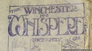 पहले विश्व युद्ध के दौरान जेल से निकाला गया अखबार विनचेस्टर विस्परर