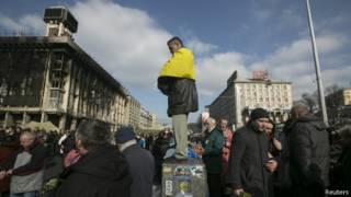 Молитва на Майдане в Киеве
