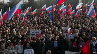 Демонстрация в Севастополе