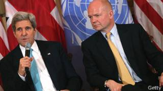 Джон Керри и Уильям Хейг 25 февраля 2014 года
