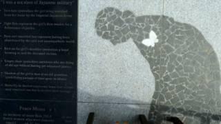 美國加州韓裔社區豎立的韓裔慰安婦紀念雕塑(01/02/2014)