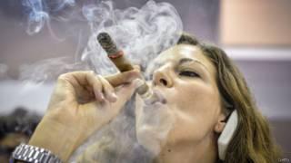 مسابقة تدخين السيجار