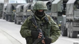 Tropas russas na Ucrânia. Foto: Reuters