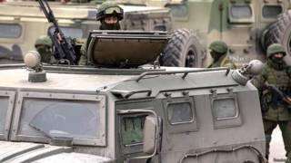 यूक्रेन में तैनात रूसी सैनिक