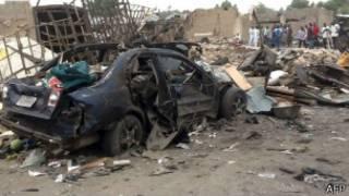 محل انفجار در مایدوگوری