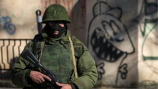 Російські вояки у Криму