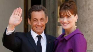 ساركوزي وكارلا بروني