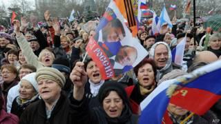Пророссиский митинг в Симферополе