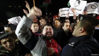مظاهرات في الأردن