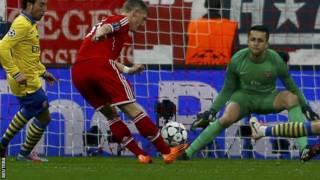 بايرن ميونخ يطيح بأرسنال من دوري أبطال أوروبا