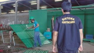 Preso fabrica contêiner em prisão no Mato Grosso do Sul (Foto: Keila Oliveira / Agepen - MS)